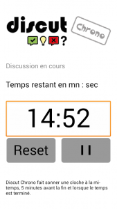 Application Discut Chrono pour ateliers philo