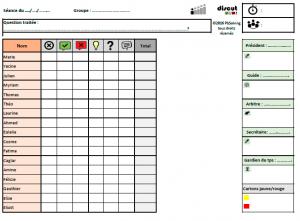 grille d'évaluation Discut - ateliers philo, débats : évaluation par compétences