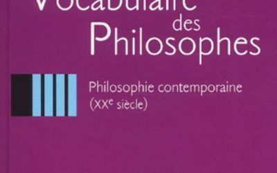 Le Vocabulaire des philosophes – Ellipses