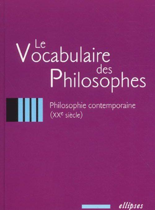 Le Vocabulaire des philosophes – Ellipses
